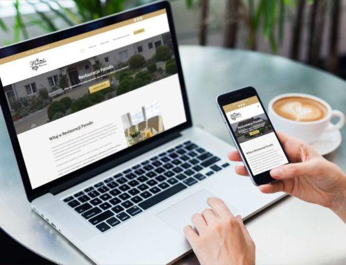 Strona internetowa dla Restauracji Paradis z Opola