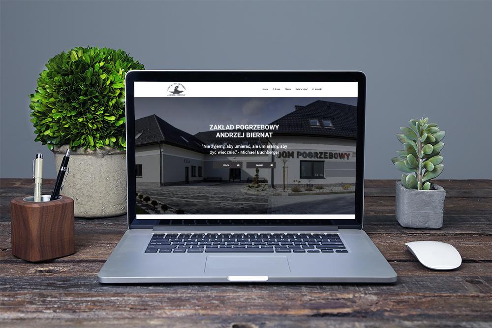 Strona internetowa dla zakładu pogrzebowego